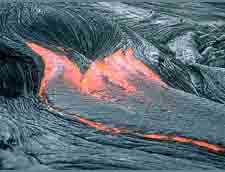 Lava flow from Hawaii's Kilaeua Volcano