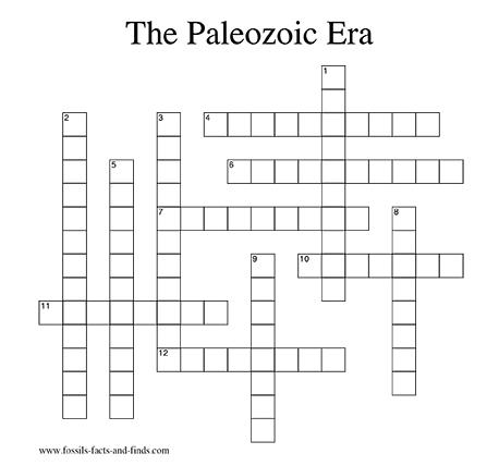 Crossword Puzzles For Rocks Minerals And Geology