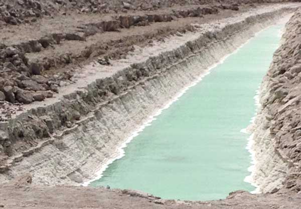 Halite Drying Pit California Desert