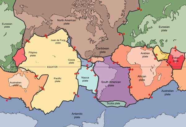 Tectonic Plates courtesy of USGS